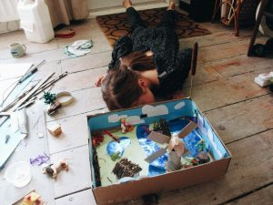 Picture of crafted Broads landscape model