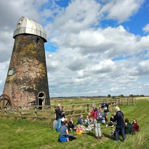 Picture of community group at windmill